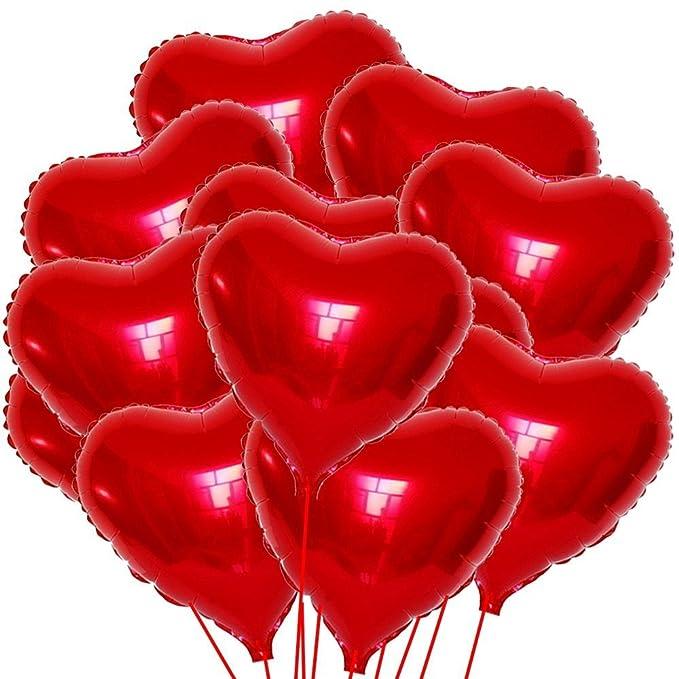 Kit 20 Balones globo balón hinchable Corazones Rojo Corazón Amor ...
