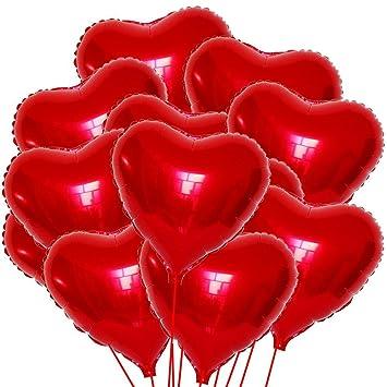 Kit 20 Balones globo balón hinchable Corazones Rojo Corazón ...