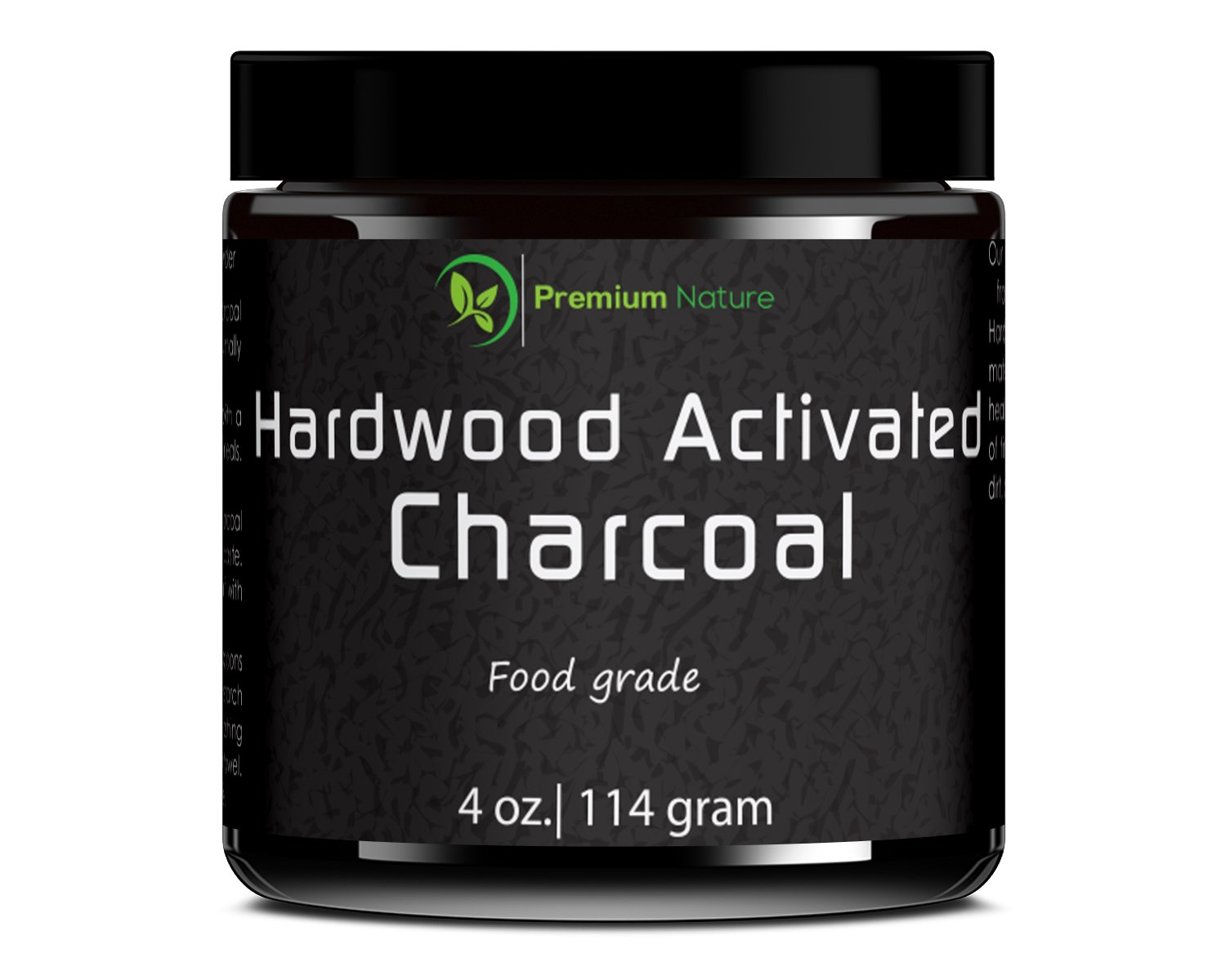 Teeth Whitening Activated Charcoal Powder - 4oz Hardwood DIY Treatment for Water Natural Dental Health Sensitive Teeth & Gums Eliminate Bad Breath Toothpaste Multi Use Skin Detox - Premium Nature