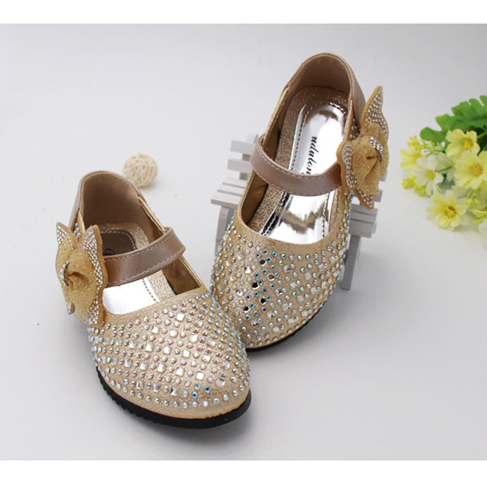 Zhhlinyuan Kids Low Heels Princess Dress Shoes Sweet Girls Glitter Party  Shoes D02: Amazon.co.uk: Shoes & Bags