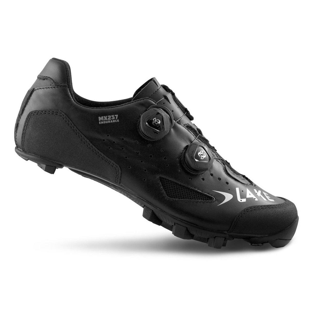 Lake mx237 Endurance Cycling Shoe – Wide – Men 'sブラック/ブラック、44.0   B07B98M3WT
