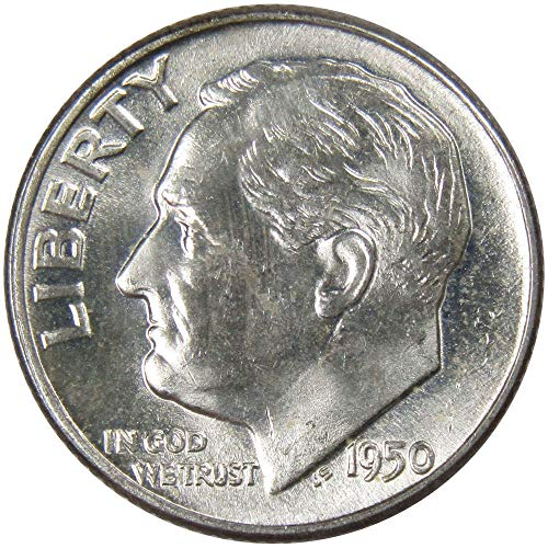 (1950 10c Roosevelt Silver Dime Uncirculated Mint State)