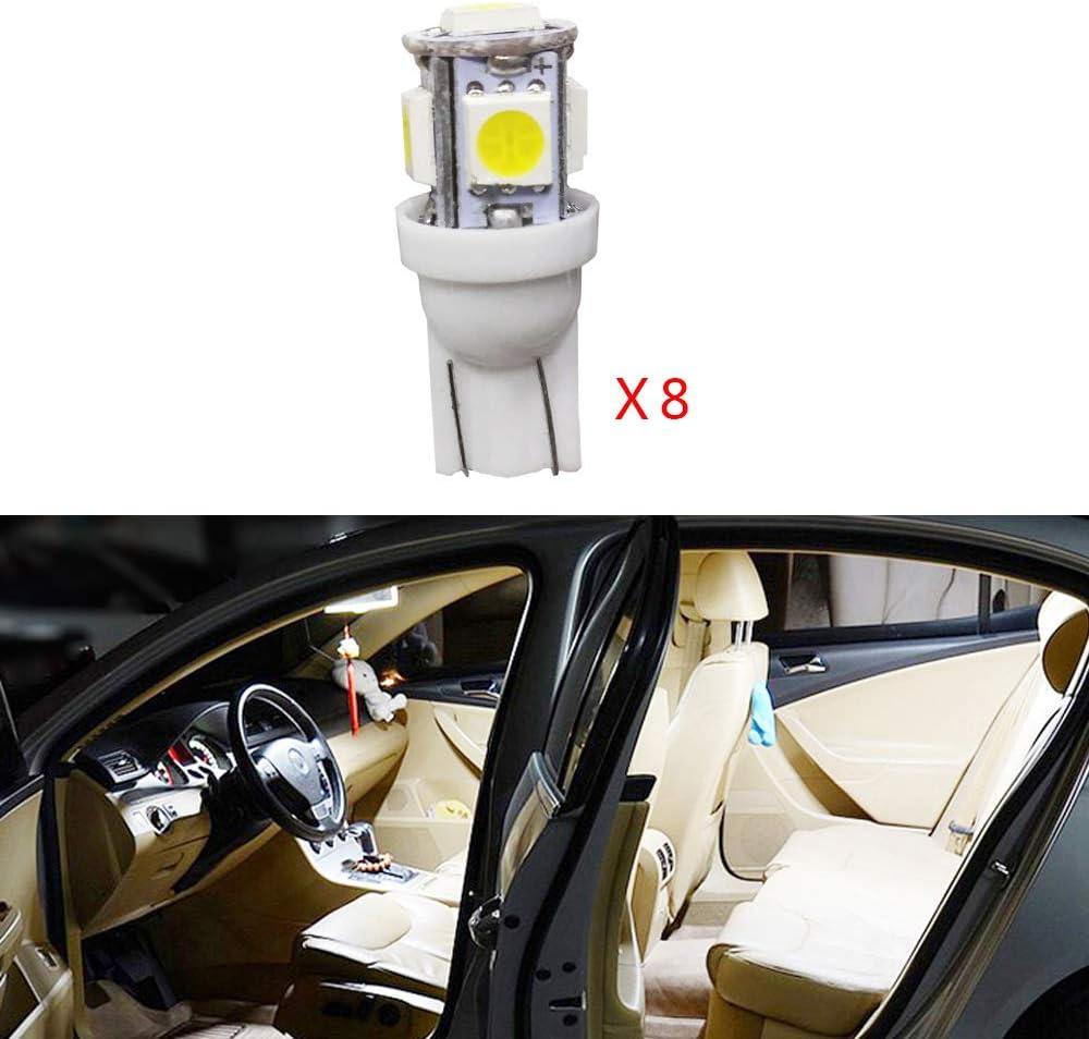 Cobear para Prado 2.7 2009-2016 Super Brillante Fuente de luz LED Interior L/ámpara de Coche Bombillas de Repuesto Blanco Paquete de 6