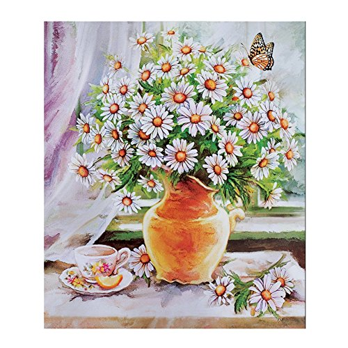 Daisy Colorful Dishwasher Magnet White