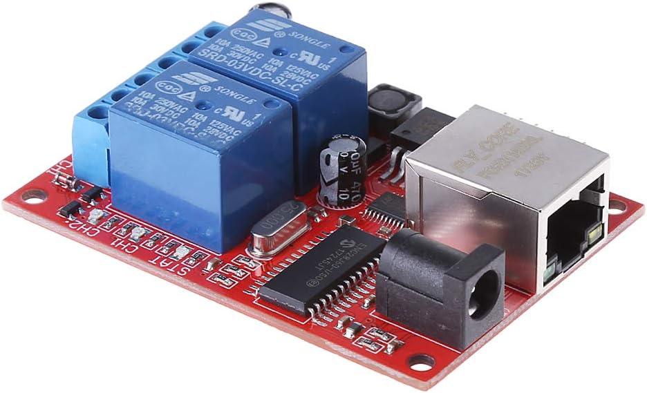 beioust LAN Ethernet 2-Wege Relay Board Verz/ögerungsschalter TCP//UDP Controller Modul Web Server Relay