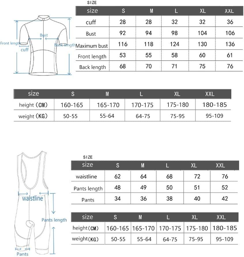 Unkoo Safe Nightvision Cycling Jersey Top Bike Shirt Short Sleeve Bicycle Clothes Jerseys with 3D Gel Padded Bib Shorts Clothing Set for Race Refraction New Mens Summer Outdoor Sports Fashion Suit