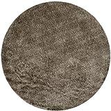 Safavieh Paris Shag Collection SG511-9292 Sable Polyester Round Area Rug...
