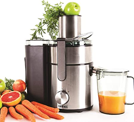 Duronic Juicer JE10 Whole Fruit and Vegetable Juicer Powerful 1000W Large Feeding Tube Centrifugal Power -