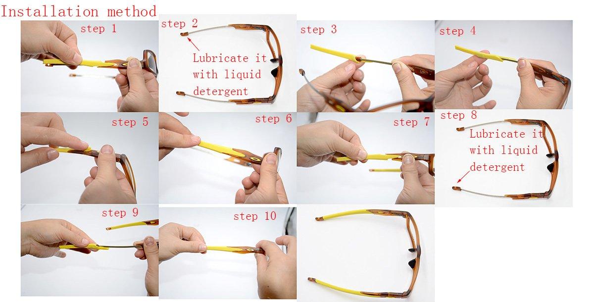 4acdfdf48cb85 Amazon.com  Perfec New Black Glasses Ear Socks for OX8118 OX8027 OX8029  OX8030 OX8031 OX8033 OX3149 OX3128 OX3150  Sports   Outdoors