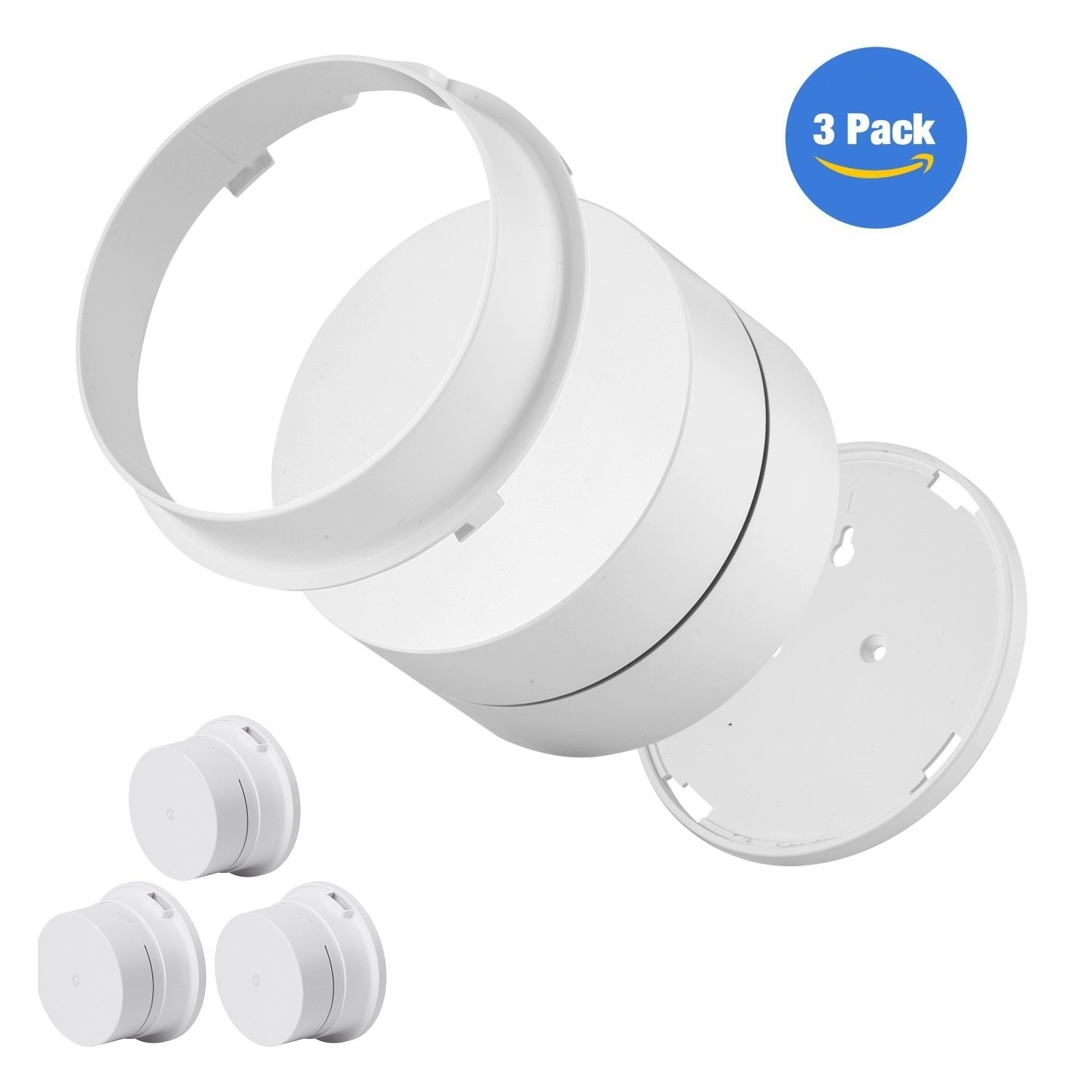 [#1] Google WiFi Wall Mount - Ceiling Mount Holder for Google WiFi Mesh System, Space Saving and Enlarging Coverage, Reinforced and Perfect Unity (3-Pack)