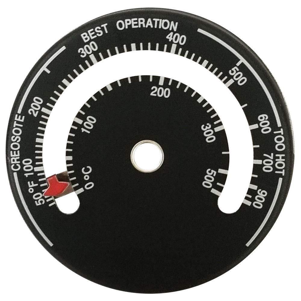 Guilty Gadgets - Termómetro magnético para Estufa de leña: Amazon.es: Hogar