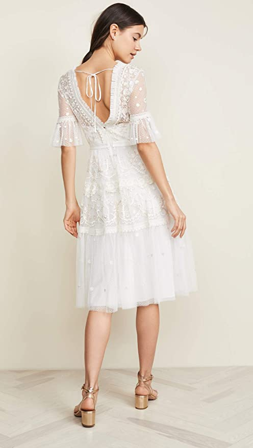 1b33c9155e2f Needle & Thread Women's Midsummer Lace Dress, Ivory, Off White, 2 at Amazon  Women's Clothing store: