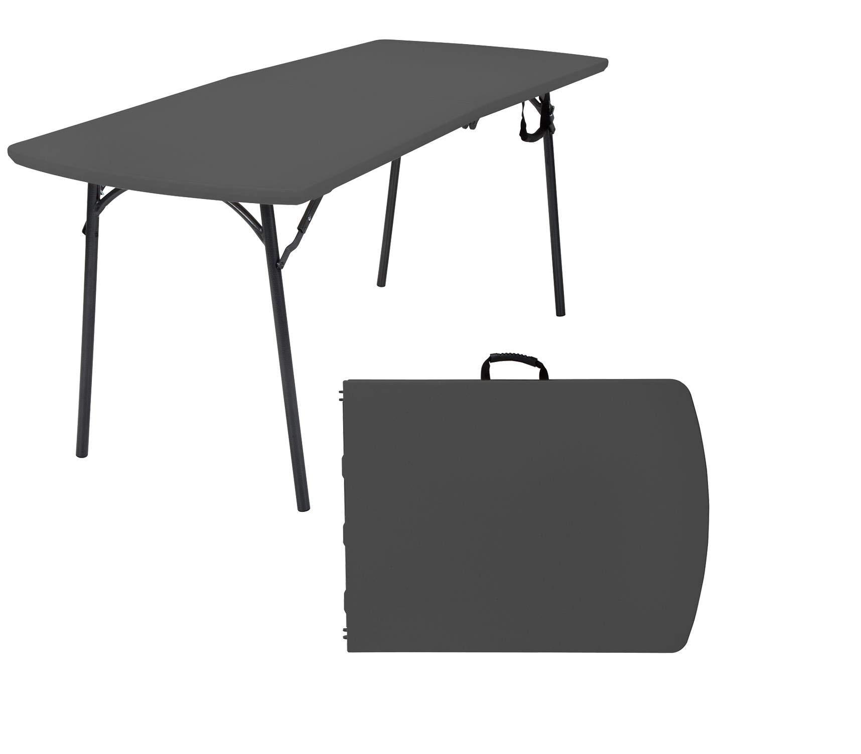 COSCO Diamond Series Banquet Table, 6 x 30, Black (Renewed)