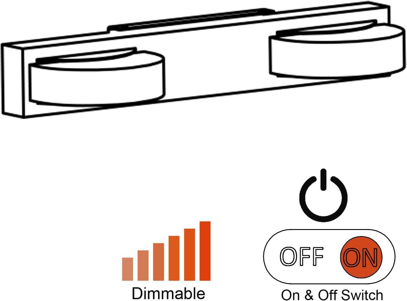 remorque bateau Facon Lumi/ère de mur de plafond de 12V LED avec le blanc variable de commutateur pour le RV camping-car caravane lumi/ère de colonne de salle de bains LED