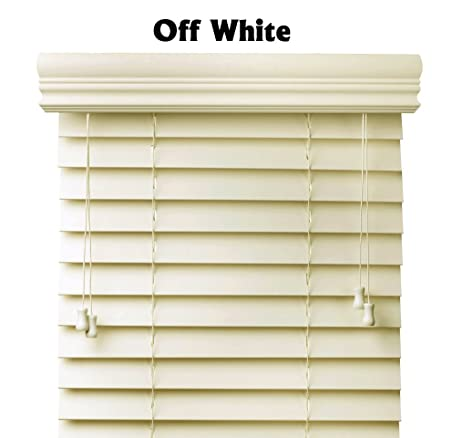 premium 2 inch faux wood blinds pearl white 44 x 60