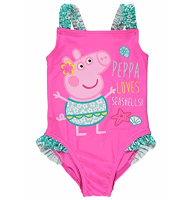 Peppa Pig Swimsuit u0027Happyu0027 ...  sc 1 st  Amazon UK : peppa pig swimming costumes  - Germanpascual.Com