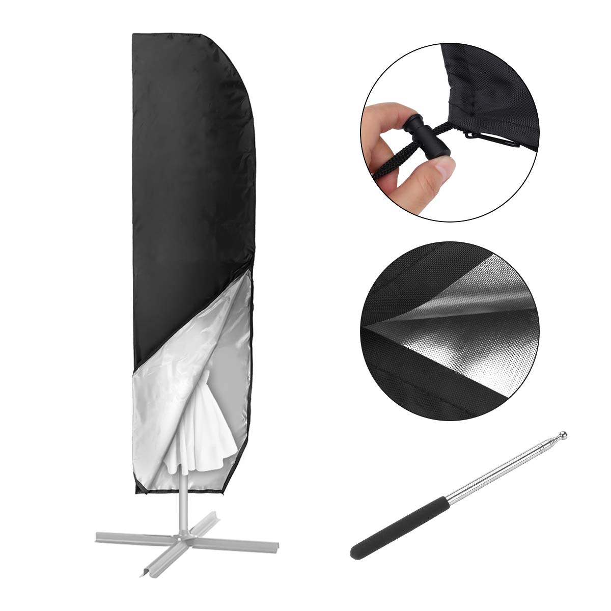 mohoo sonnenschirm abdeckung h lle f r 4m schutzh lle. Black Bedroom Furniture Sets. Home Design Ideas