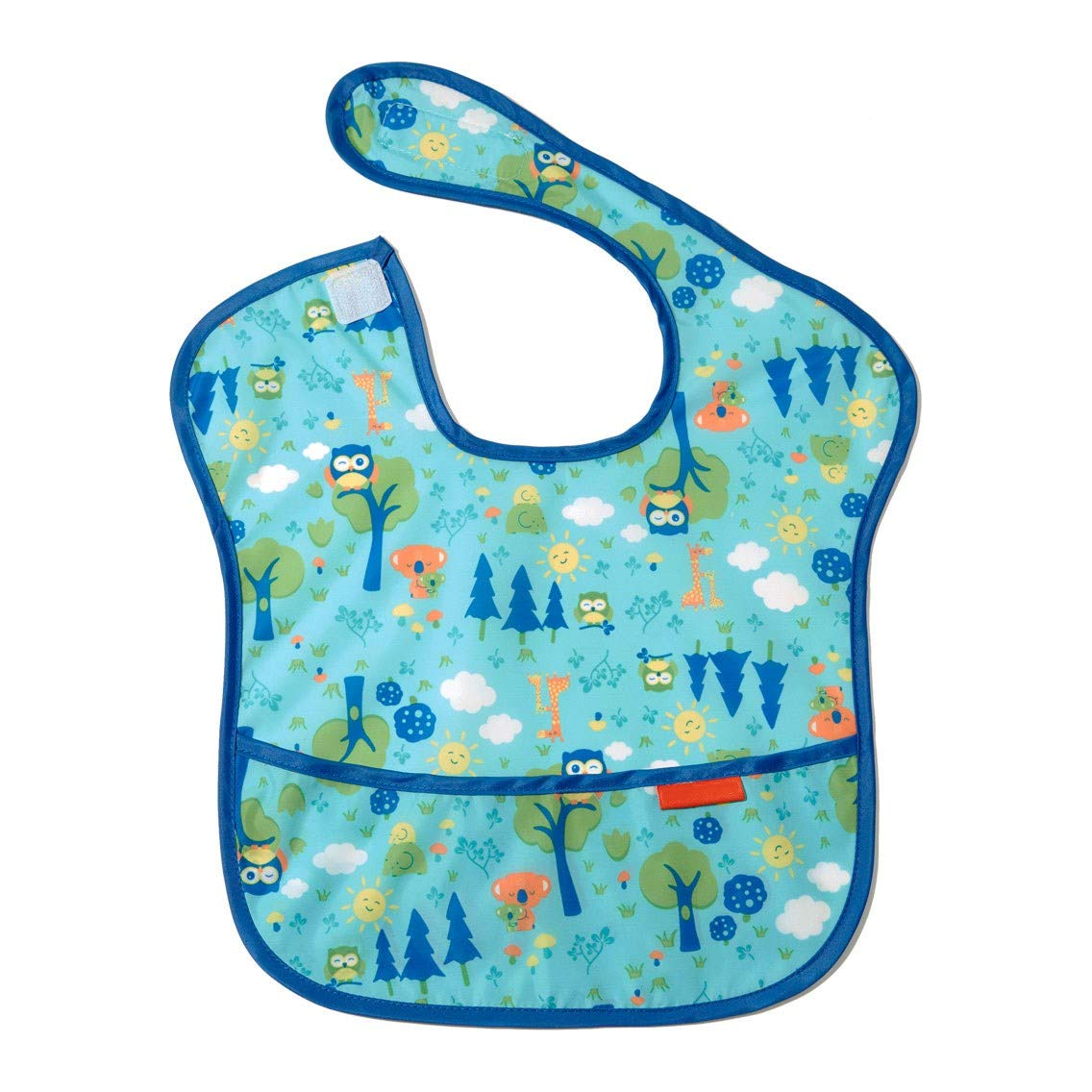 WDXIN Baby Bib Waterproof Bib Baby Eating Clothes Rice Pocket Soft Bib Food Supplement Baby Gown Super Soft Pocket Thin Light Easy to Clean,Green