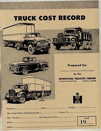 1958 International Trucks (1958 International Truck Operating Cost Record Brochure)