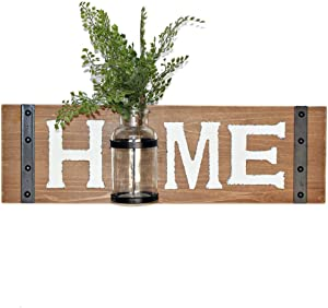Hanging Wooden Wall Decor Sign with Home Letter and Glass Mason Jar,Vintage Farmhouse Sign for Home Decor,Large Home Sign,Decorative 3D Mason Jar Wall Decor (23.5 W × 0.8 D × 7 H)