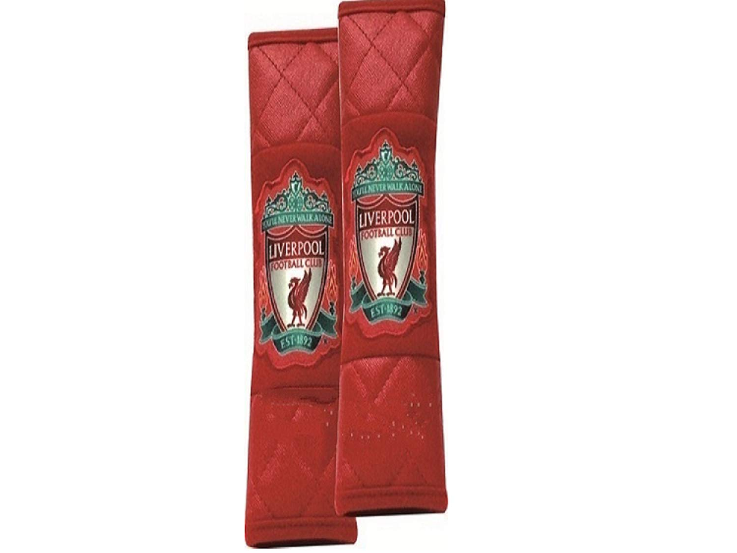 Official Liverpool FC Seat Belt Covers pair exclusive edition