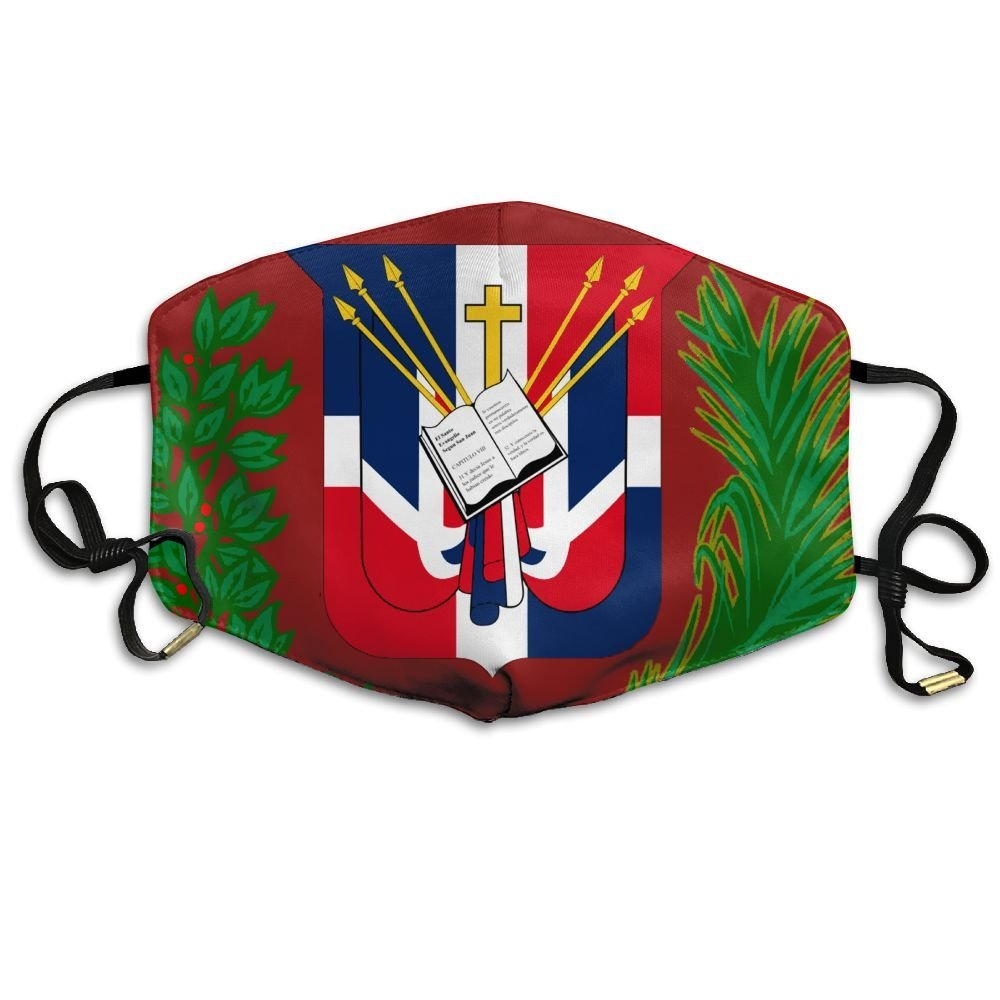 Mens Face Mask Anti-Dust Respirator Gift Dominican Republic Flag
