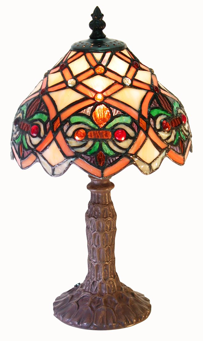 Tiffany-style Small Arielle Accent Lamp by Warehouse of Tiffany's