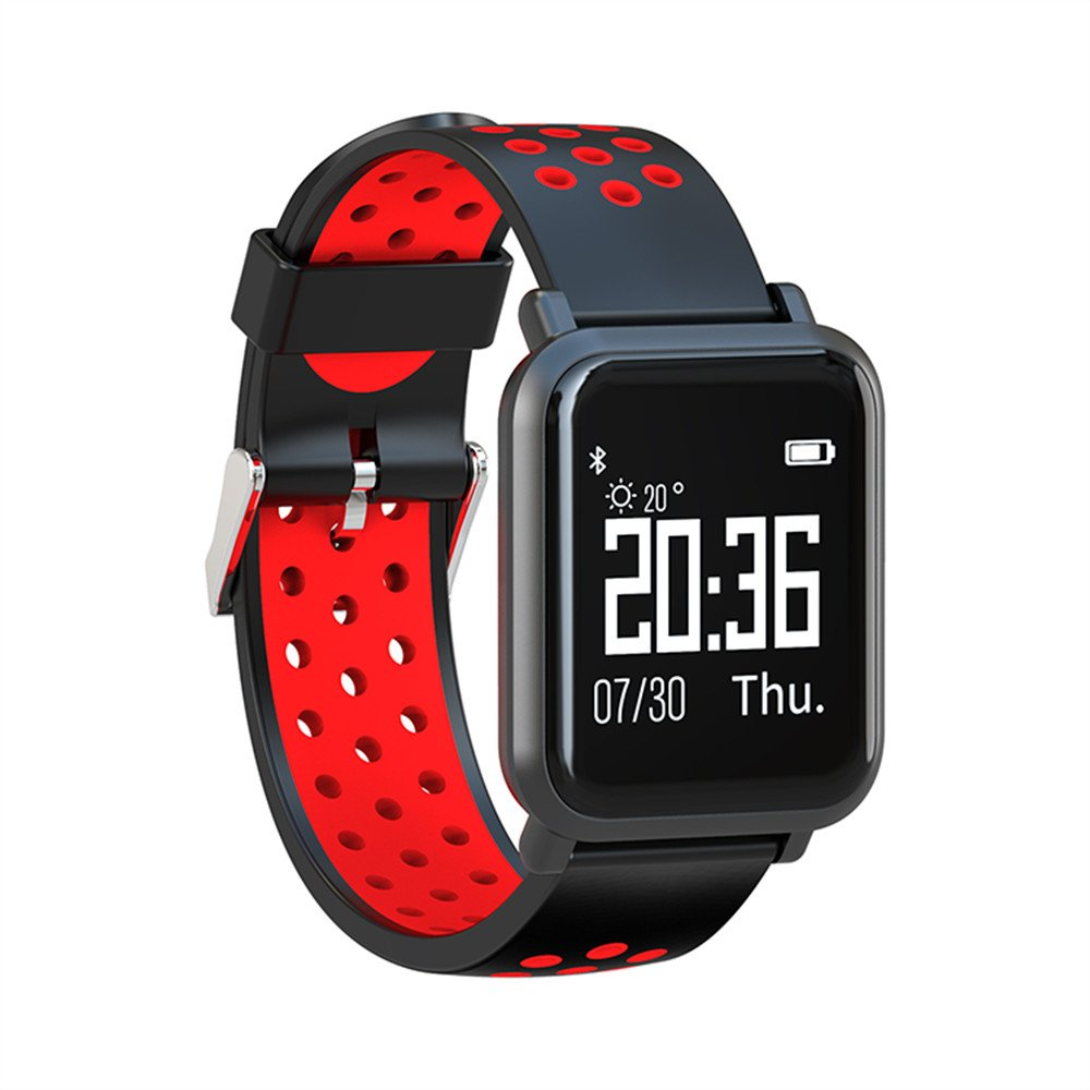 Amazon.com: SN60 Smart Watch Bracelet Touch Screen Waterproof Sports Sep Counter Sleep Health Monitoring Bluetooth (Red): Cell Phones & Accessories