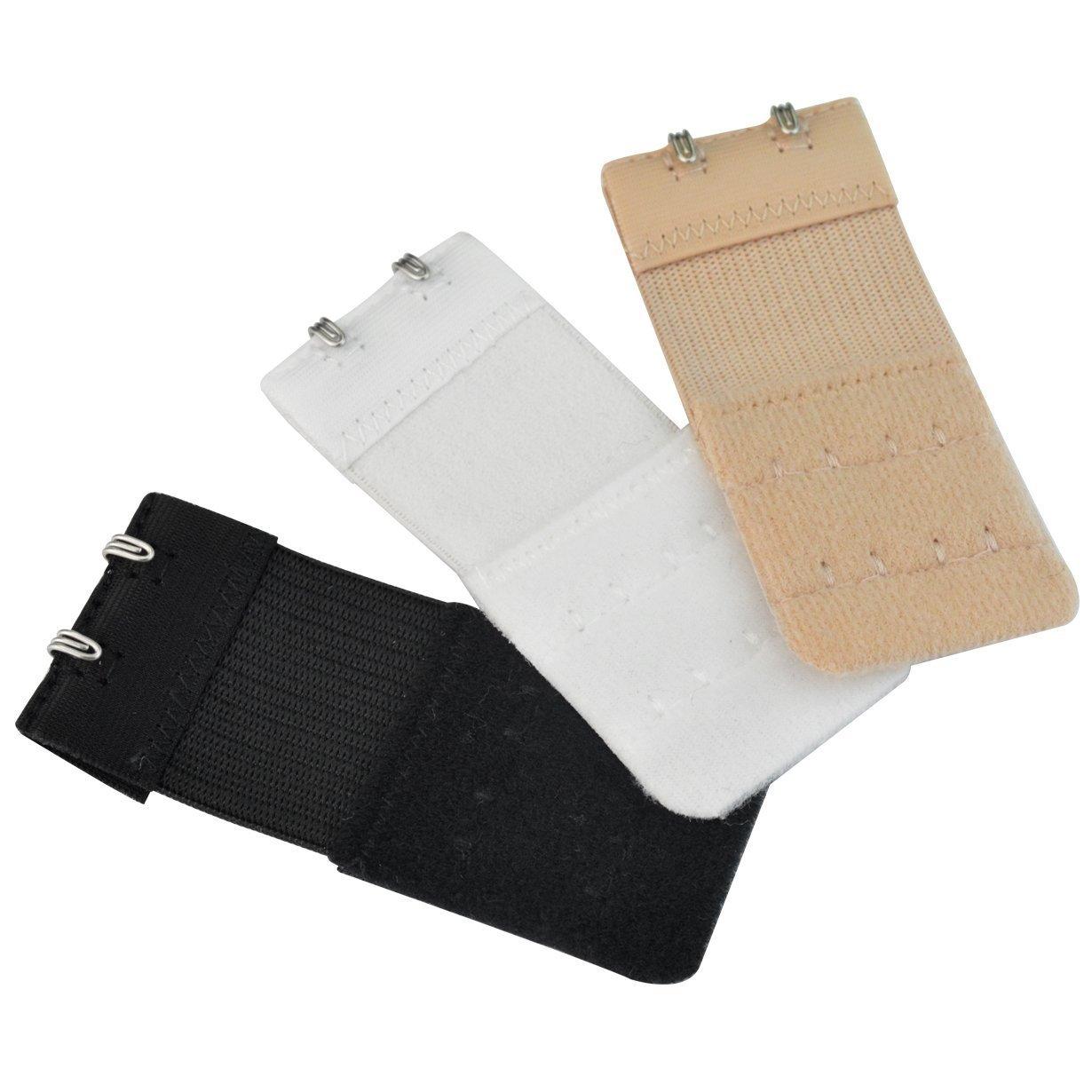 4cdeaa3e2318a Qingsun 3Pcs Bra Extender Elastic Hook Bra Strap Extension at Amazon  Women s Clothing store