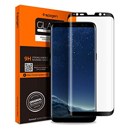 b9b726b60d Spigen Galaxy S8 Plus Screen Protector Curved Edge/Tempered Glass/Case  Friendly for Samsung
