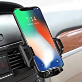 Car Phone Mount - DesertWest Phone Holder for Car Cradles, Adjustable with 360 Degree Rotation, Compatible with iPhone X/8/7P/ 5, Galaxy S6/7 Note 8.