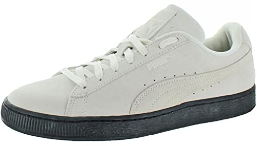 1308f728a816a0 Image Unavailable. Image not available for. Colour  PUMA Men s Suede Black  Sole Whisper White ...