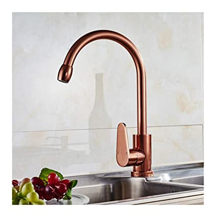 Faucets Kitchen Sink Taps Space Aluminum Rose Gold Kitchen ...