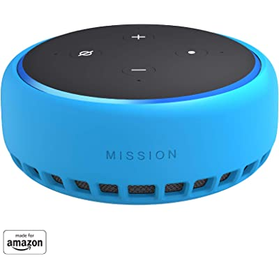 Mission Funda de silicona para Amazon Echo Dot (3.ª generación), azul turquesa