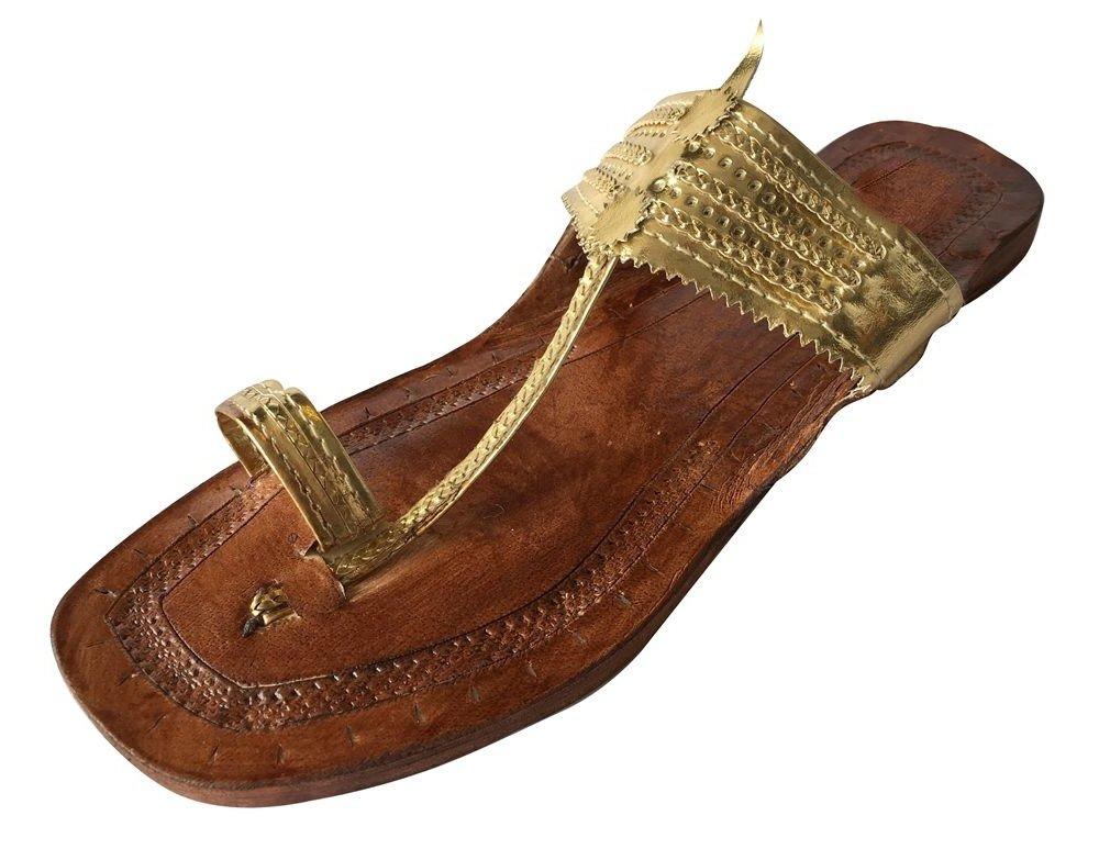 Step n Style Indian Handmade Leather Kolhapuri Slipper Mojadi Jutti Kurti Sandals (6)