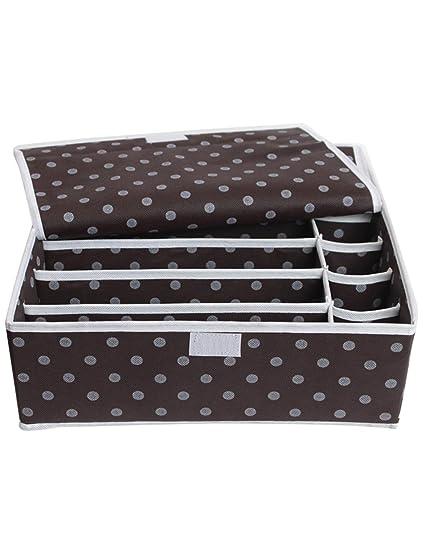 KKCF Alta calidad ropa interior calcetines caja de almacenamiento sujetador 12 - cuadrícula de acabado cuadro