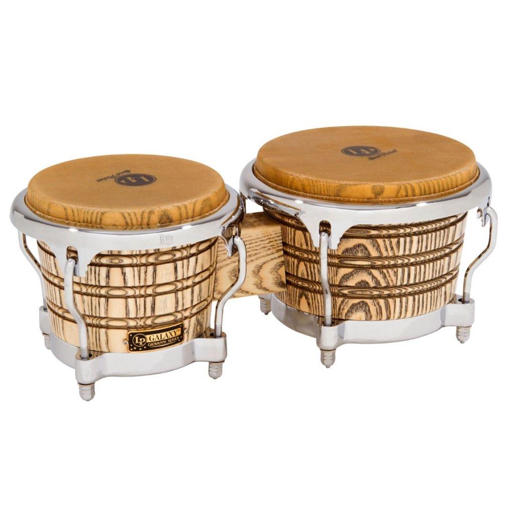 Latin Percussion LP Galaxy Giovanni Series Bongos - Natural/Chrome