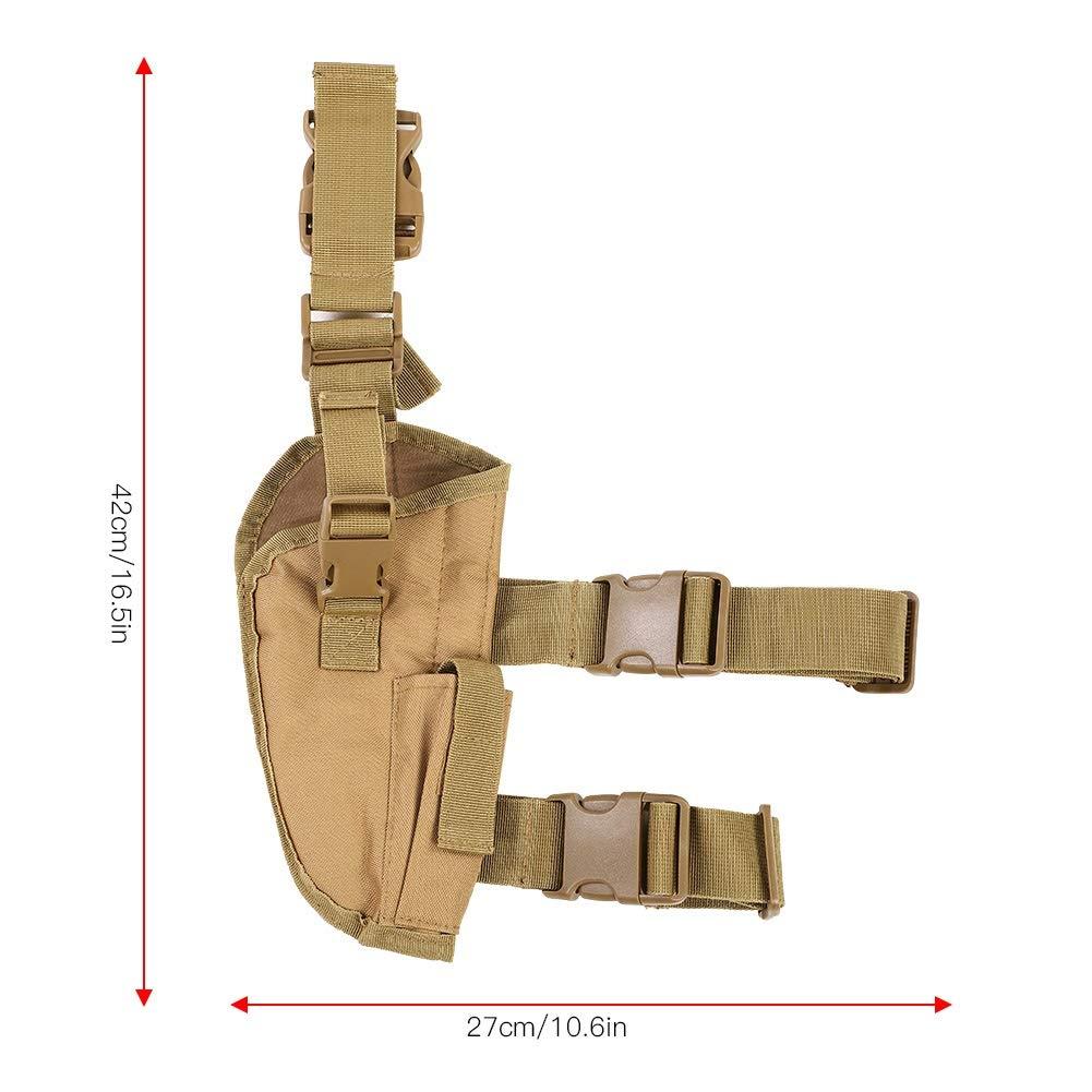 Pistol Magazine Holster Nylon Pistola de Pistola de Pierna Derecha Militar Bolsa de Muslo de Pierna ca/ída Dewin Pistol Holster