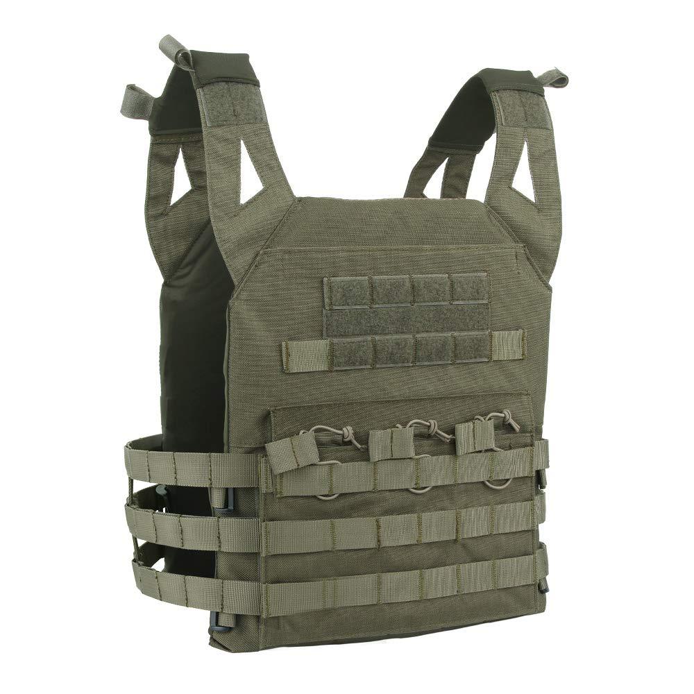 EXCELLENT ELITE SPANKER Tactical Airsoft Vest Outdoor Molle Child Small JPG Vest Game Protective Vest Modular Chest Set Vest for Fun-Children Version(RGN)