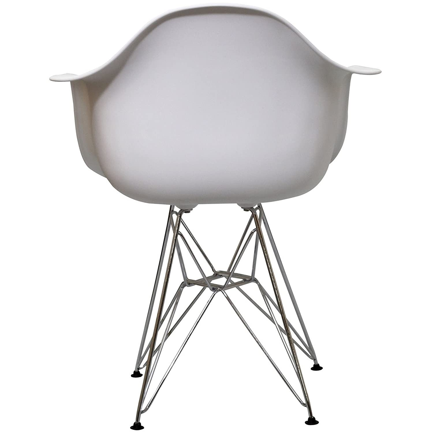 Amazoncom Modway Paris Wire Armchair in White Chairs