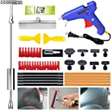 YOOHE Car Dent Puller Kit - Paintless Dent Repair Kit, Dent Puller Slide Hammer T-Bar Dent Removal Tool with T-bar Head Dent Puller and Thickened Pulling Tabs for Car Dent Remover