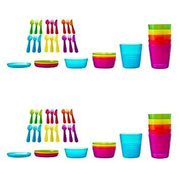 Ikea Kalas Baby Kinder Plastik Besteck Schüssel Teller Tassen Party Becher