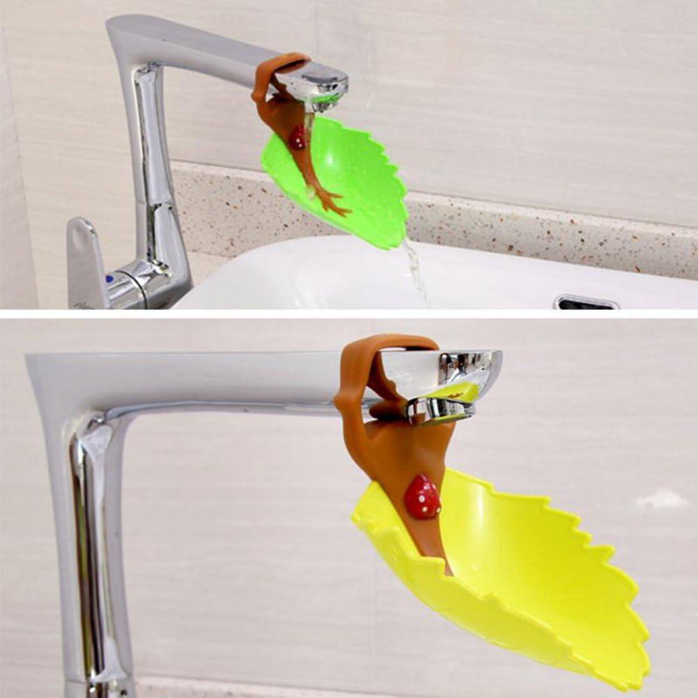 OUNONA Wasserhahn Verl/ängerung Extender f/ür Kinder Baby H/ände waschen Badezimmer