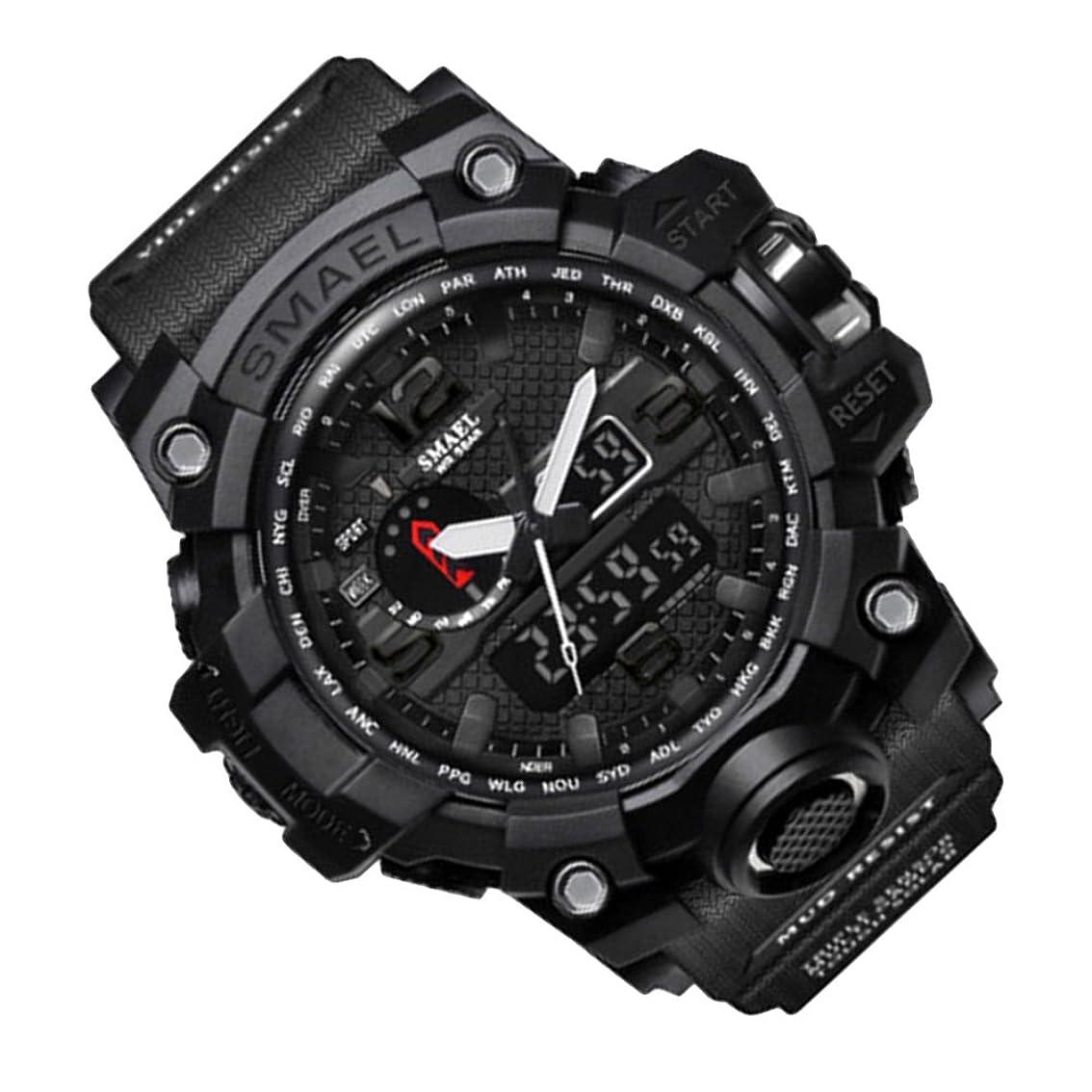 ゲートウェイ着飾る発生するデジタル腕時計 ボーイズ 子供用腕時計 男の子 キッズ 腕時計 ストップウオッチ カウントダウン アラーム 50メートル 防水腕時計 スポーツ腕時計 大文字盤led時計 ZAYIYA