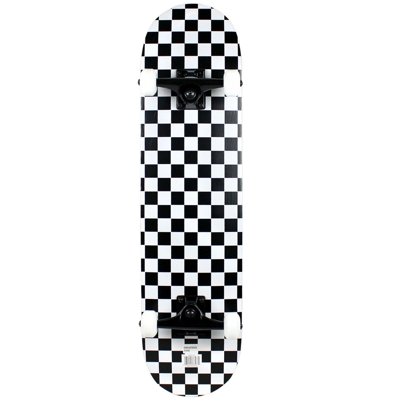 Krown Rookie Checker Skateboard, Black/White, 7.75'' by Krown