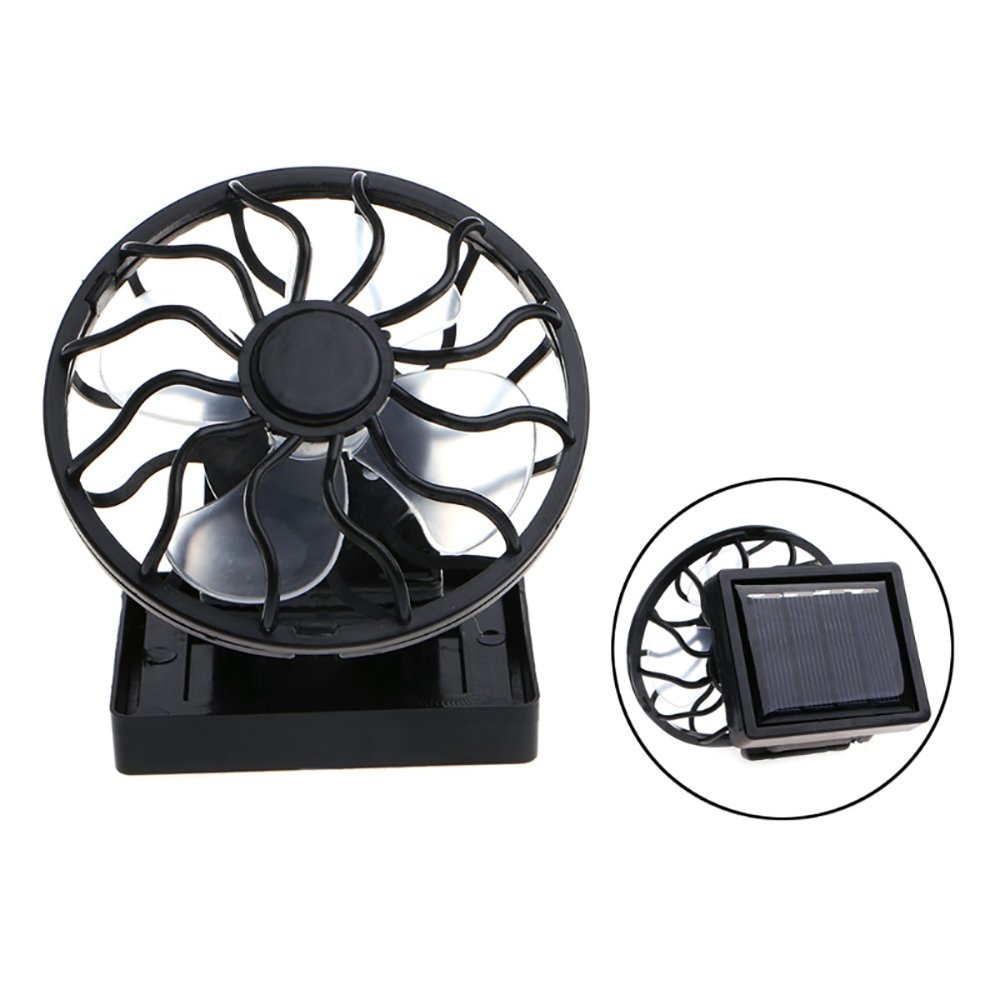 Mini Portable Clip-On Solar Panel Powered Cooling Fan For Travel Camping Fishing