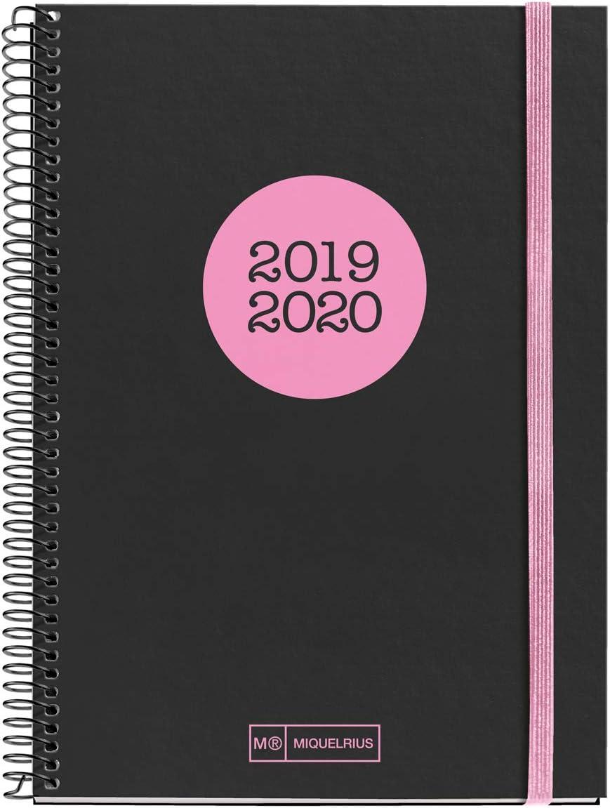 Miquelrius agenda escolar 2019 2020 semana vista neón coral ...