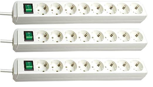 6 opinioni per Brennenstuhl ECO-Line Ciabatta elettrica con interruttore 8prese 3m, 3er Set |