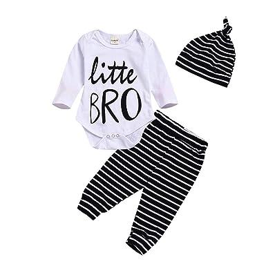c672d26f344c Amazon.com  Baby Boy Fall Clothes Little Brother Bodysuit ...
