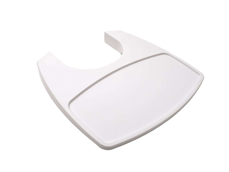 Leander 5707770010011/Plateau en plastique pour chaise haute blanc